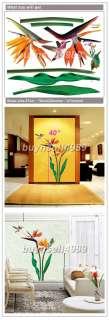 KING BIRD FLOWER WALL DOOR WINDOW DECOR STICKER CP056