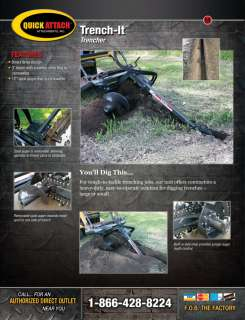 Mini Skid Steer Trencher Attachment for Bobcat MT Vermeer Toro Dingo
