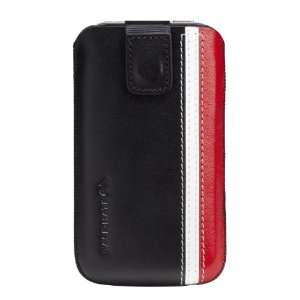 Casemate iPhone 4/4S Racing Stripe Pouch   Black/Red