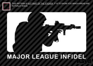 2x) Major League Infidel Sticker Decal Die Cut