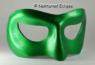 MALE GREEN LANTERN LEATHER MASK HALLOWEEN COSTUME IVY