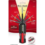 Apollo Precision Tool Mr. 7 Hands Multi Tool, Black and Red Han