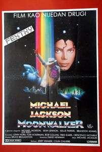 MICHAEL JACKSON MOONWALKER 1989 RARE EXYU MOVIE POSTER