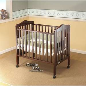 Orbelle Trading Three Level Portable Crib in Cherry
