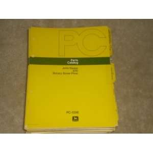 parts Catalog John Deere 270 Rotary Snow Plow Pc 1356 john deere