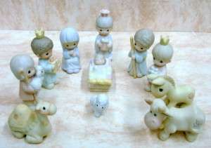 PRECIOUS MOMENTS MINI NATIVITY Set/11CHRISTMAS 610044