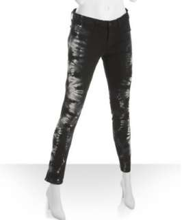 Brand black tie dyed stretch skinny leg jeans