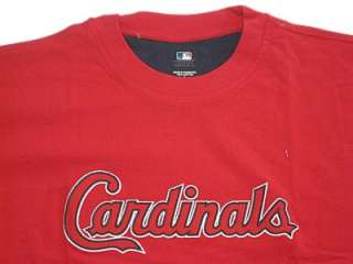 MLB St. Louis Cardinals T Shirt Mens Red Jersey Large