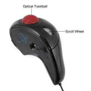 Laptop PC Optical Hand Held USB Mouse Mice W/ Trackball