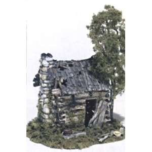 Woodland Scenics   Abandoned Log Cabin Kit HO (Trains): Toys & Games