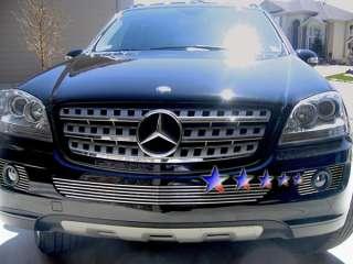 07 08 Mercedes Benz ML350 500 Front Bumper Grill Aluminum