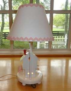 Vtg~IRMI~Nursery Rhyme~Baby~Child~Mother Goose~Wood~Wooden~Lamp w