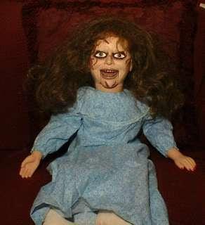Exorcist Ventriloquist Doll EYES FOLLOW YOU Dummy Puppet Creepy Prop