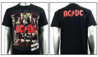 AC/DC Angus Young Rock & Roll Music Punk T shirt Sz XL