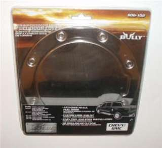 NEW BULLY POLISHED SS FUEL DOOR COVER CHEVY GMC SDG 102
