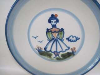 Mary Alice Hadley Stoneware Hand Painted Country Farmers Wife 9