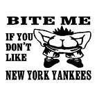 bite me new york yankees car truck vinyl sticker decal $ 5 99 time