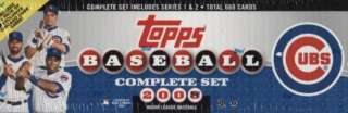2008 Topps Chicago Cubs Baseball Factory Box Set