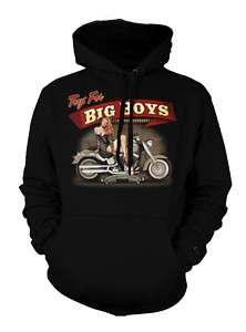 Toys For Big Boys Motorcycle Biker Chopper Hoodie