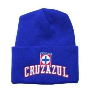 Beanie Cruz Azul Mexico FMF Soccer Futbol   Cuff Blue